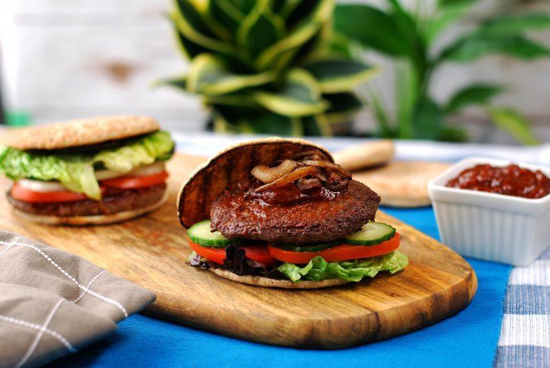 beef & mushroom burger